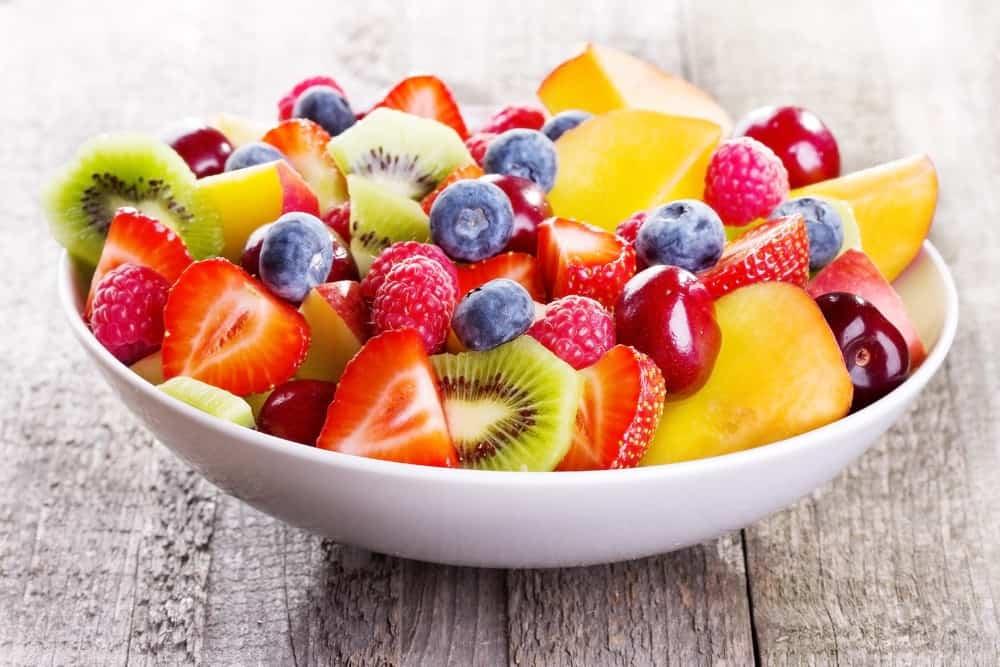 fresh fruit in a bowl