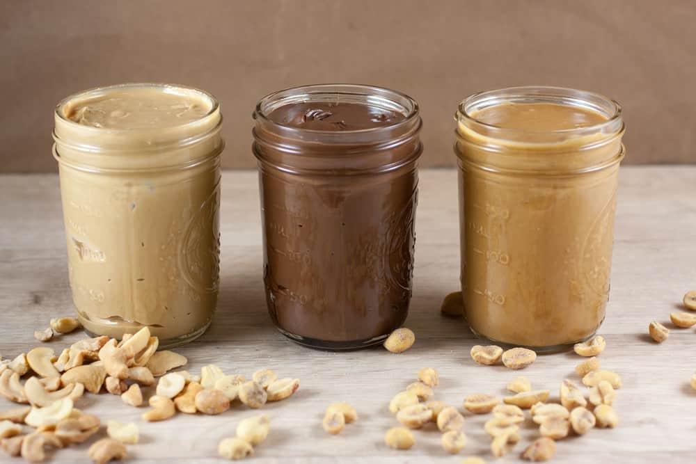 jars of nut butter
