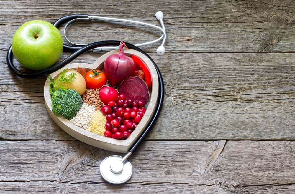 healthy heart with plant-based foods