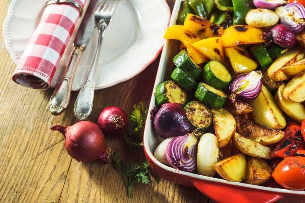 low oil roasted vegetables