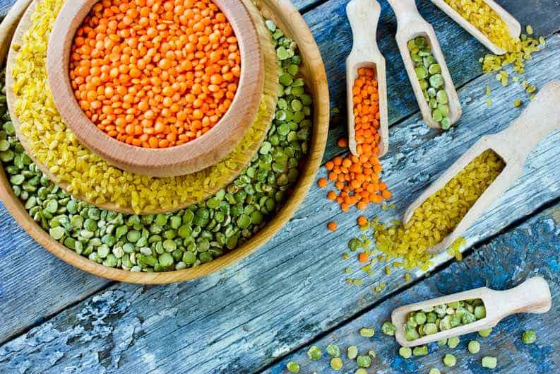 cheap vegan food lentils