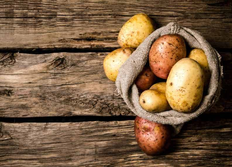white potatoes for vegan cheapness