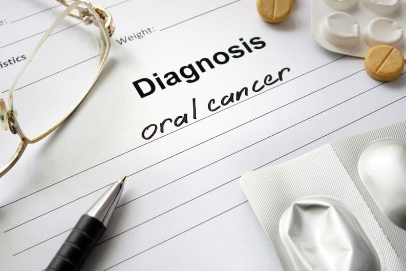oral cancer diagnosis sheet