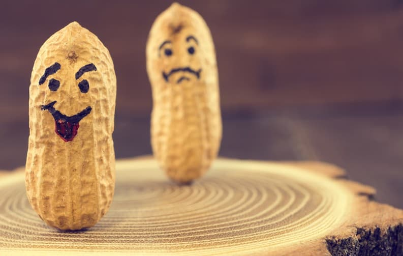 happy sad peanuts