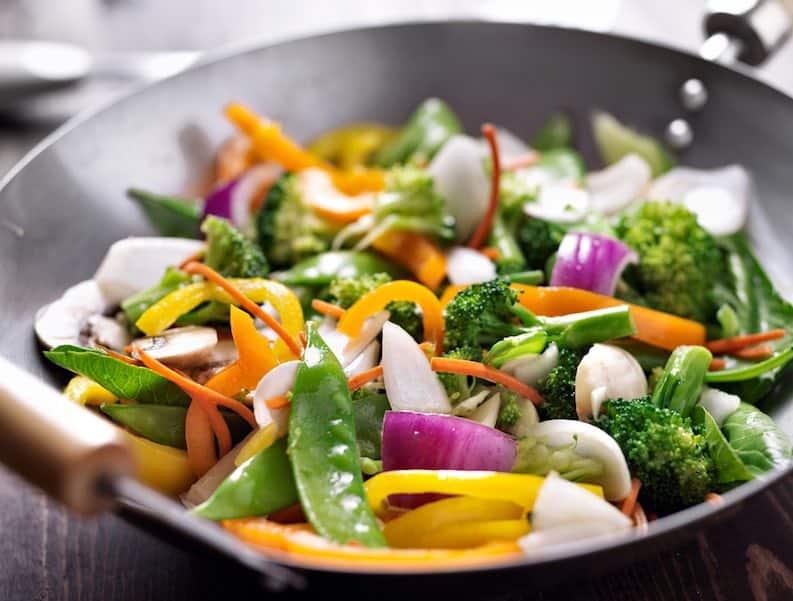 stir fry - raw vegetables better than cooked myth
