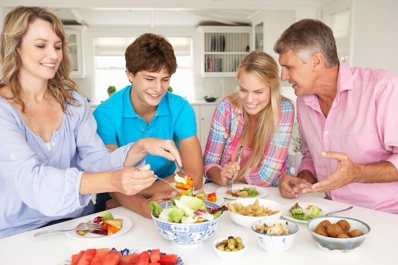 vegan family meal
