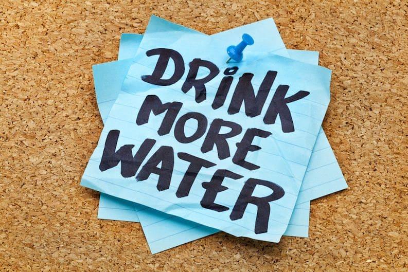drink water stay regular