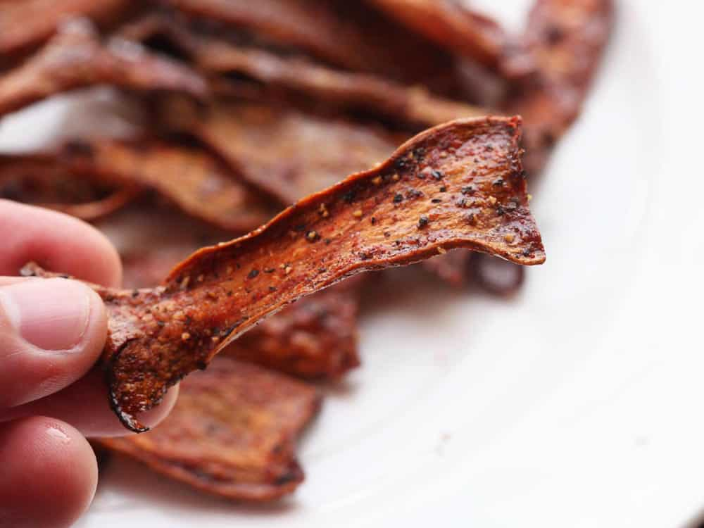 crispy mushroom bacon
