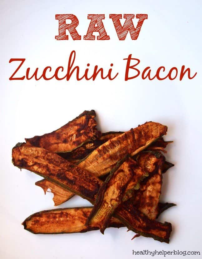 vegan raw zucchini bacon recipe