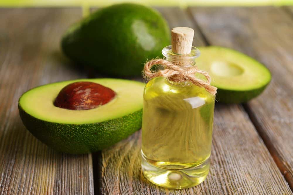 bottle of avocado oil for hair growth