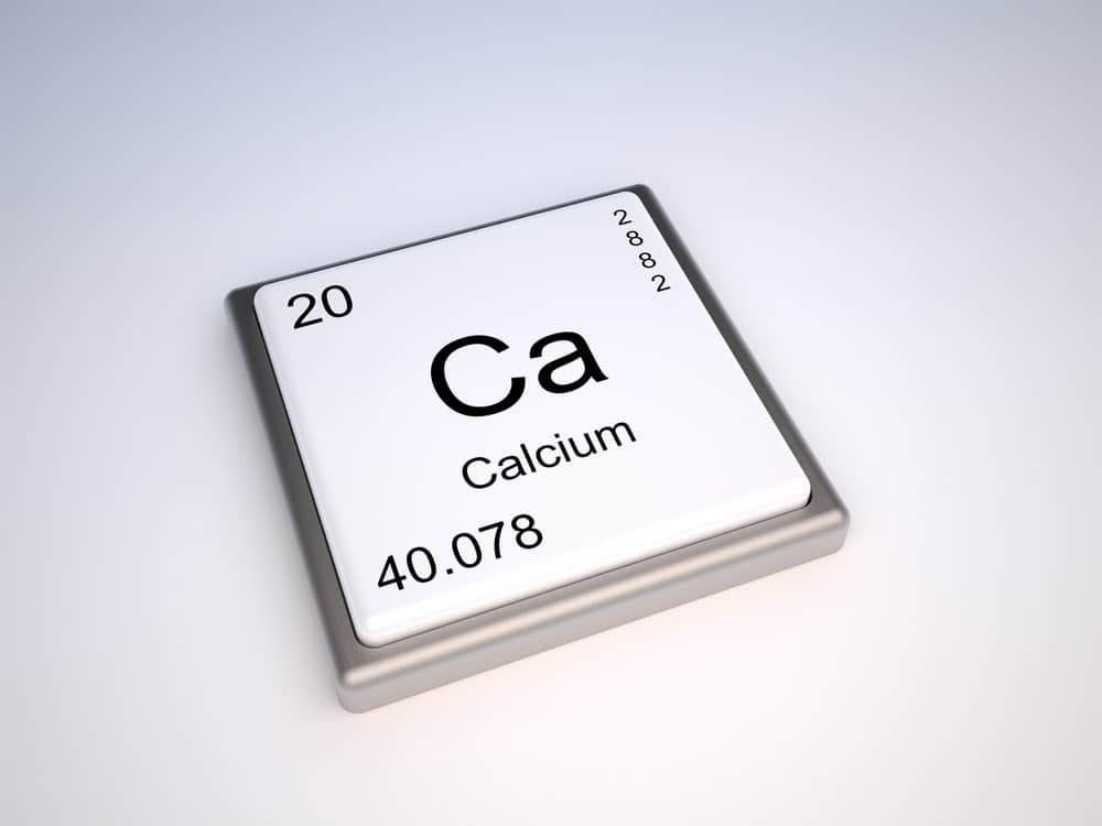 tile showing calcium chemical element