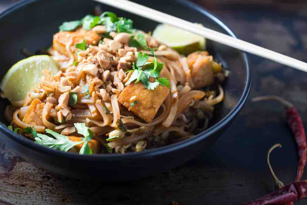vegan pad thai made with tamarind paste alternative