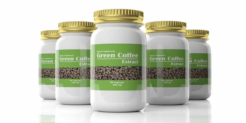 jars of green coffee extract