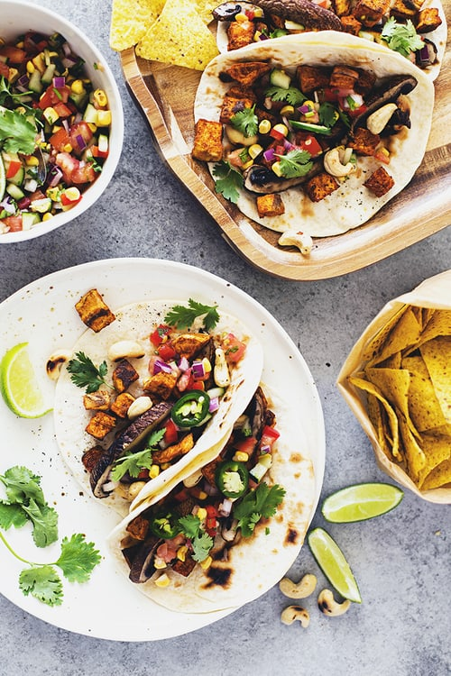 Spiced Sweet Potato and Grilled Portobello Tacos