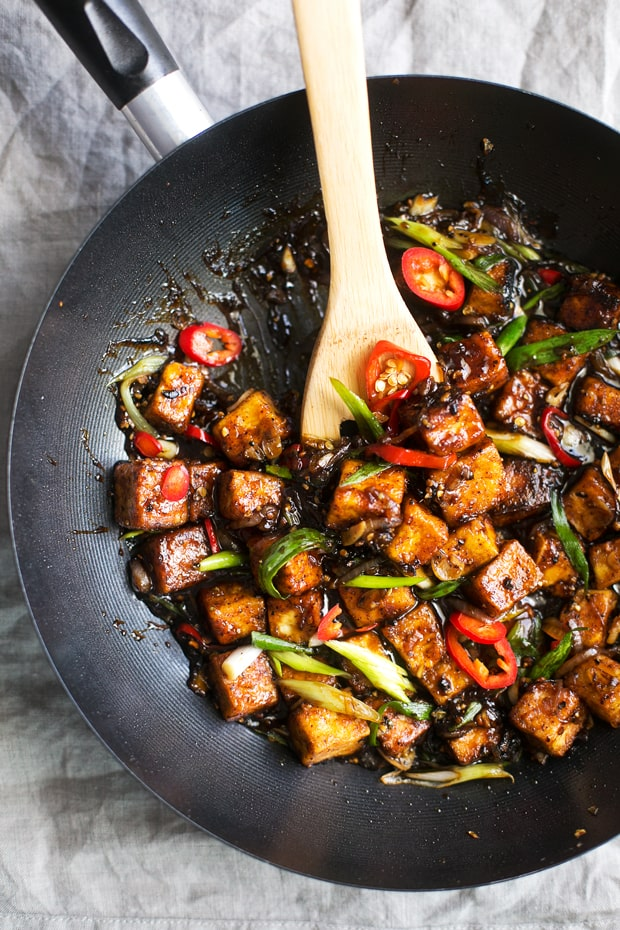 Black pepper stir fry with tofu recipe
