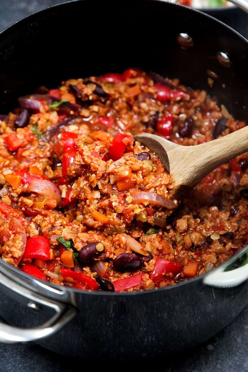 Simple #vegan chilli con carne