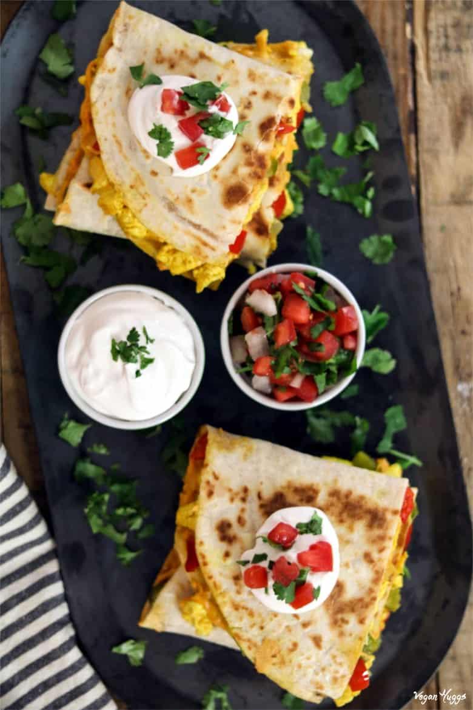 Plant-based breakfast quesadilla