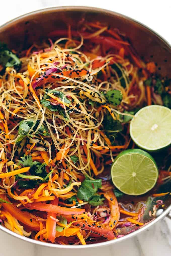 plant-based glass noodle salad