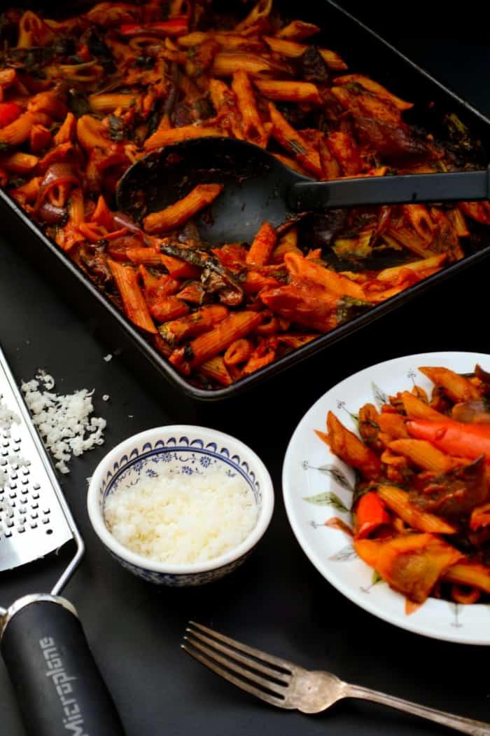 #Plant-based pasta bake