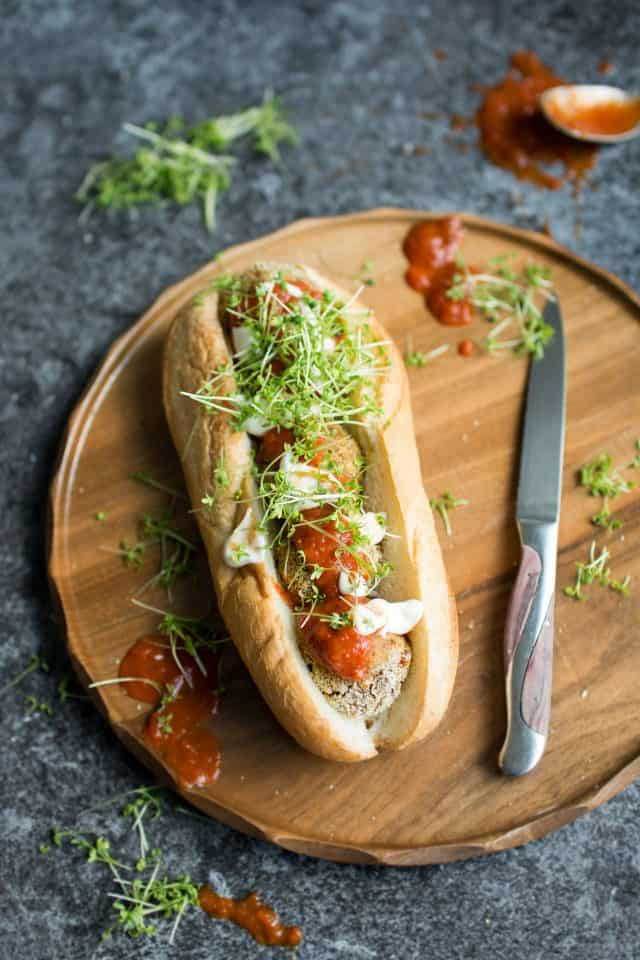 No-meat meatball sub