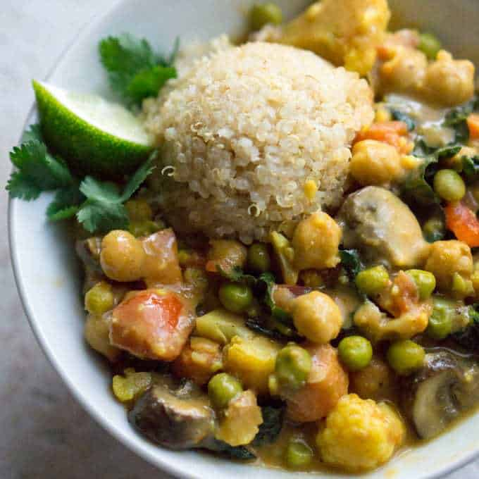 Thai coconut curry
