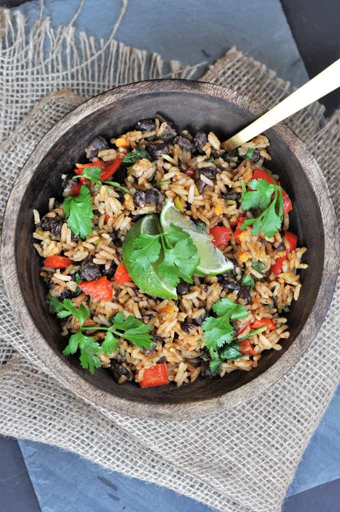 Loaded black beans and rice