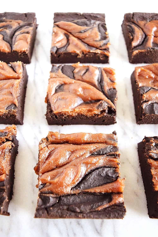caramel brownie swirls