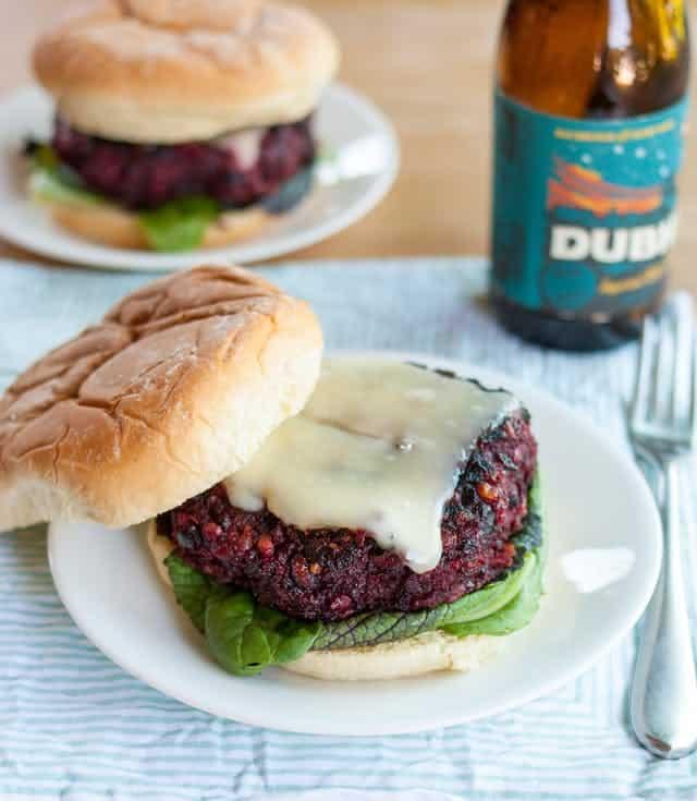 Beetroot burgers