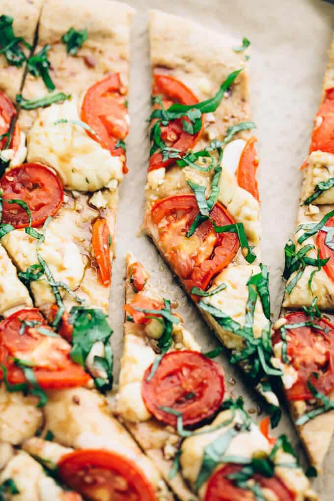 #Vegan Caprese Pizza