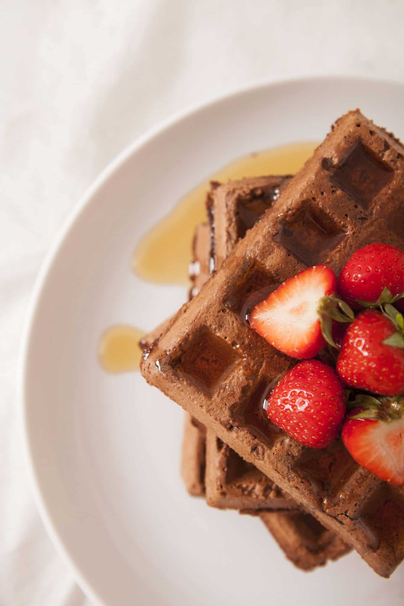 chocolate waffles vegan