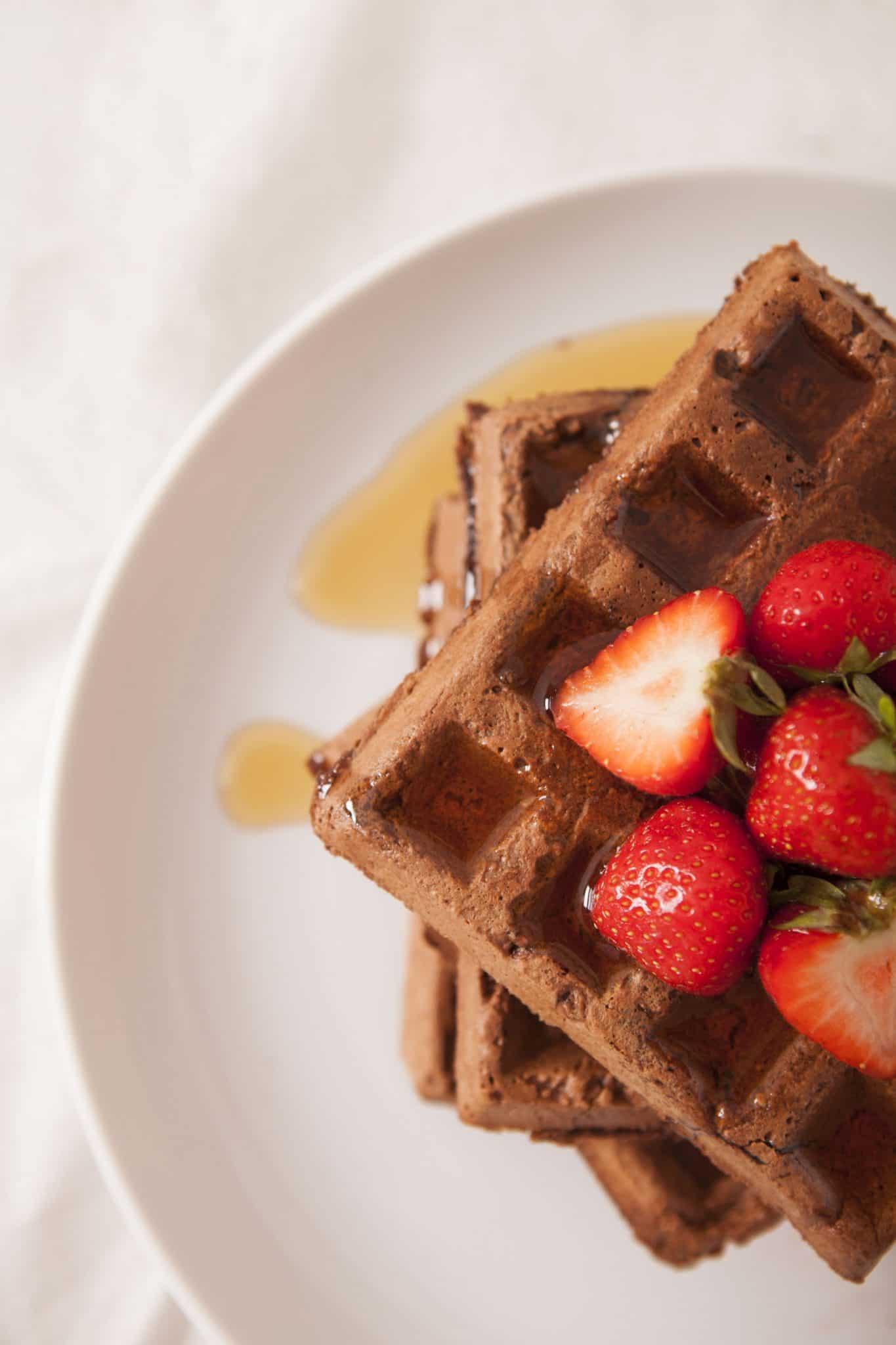 chocolate waffles vegan