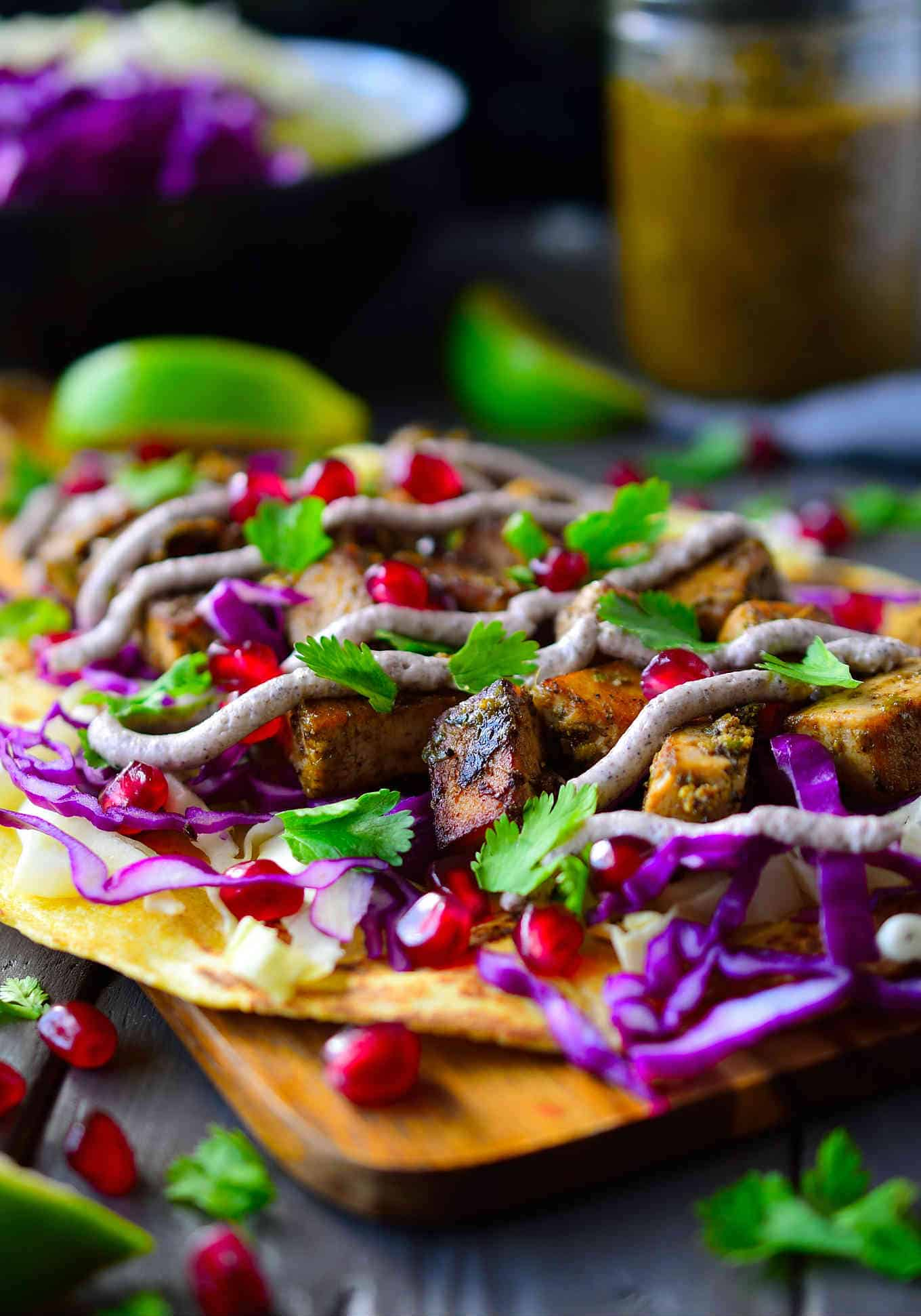 #Vegan jerk tacos