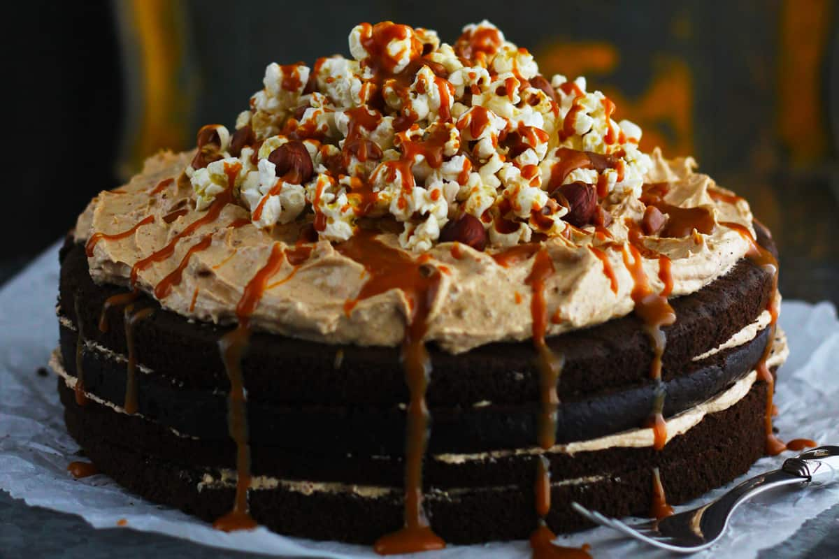 Chocolate biscoff cake