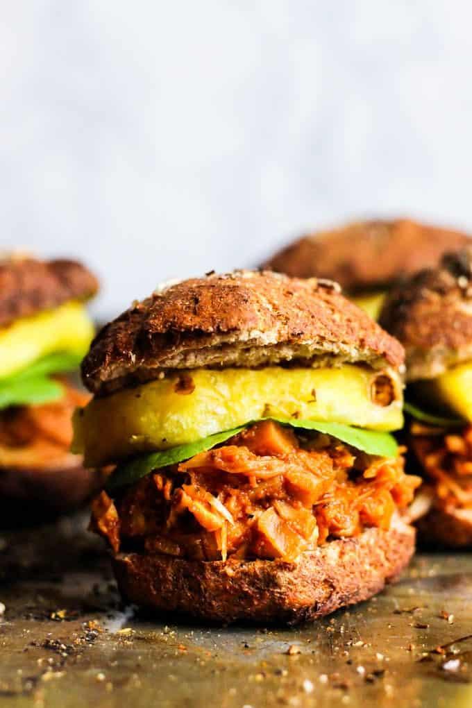 #Vegan bbq jackfruit sandwiches