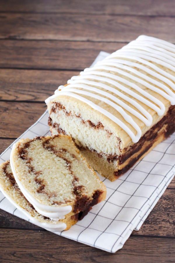Gluten-free cinnamon swirl cake