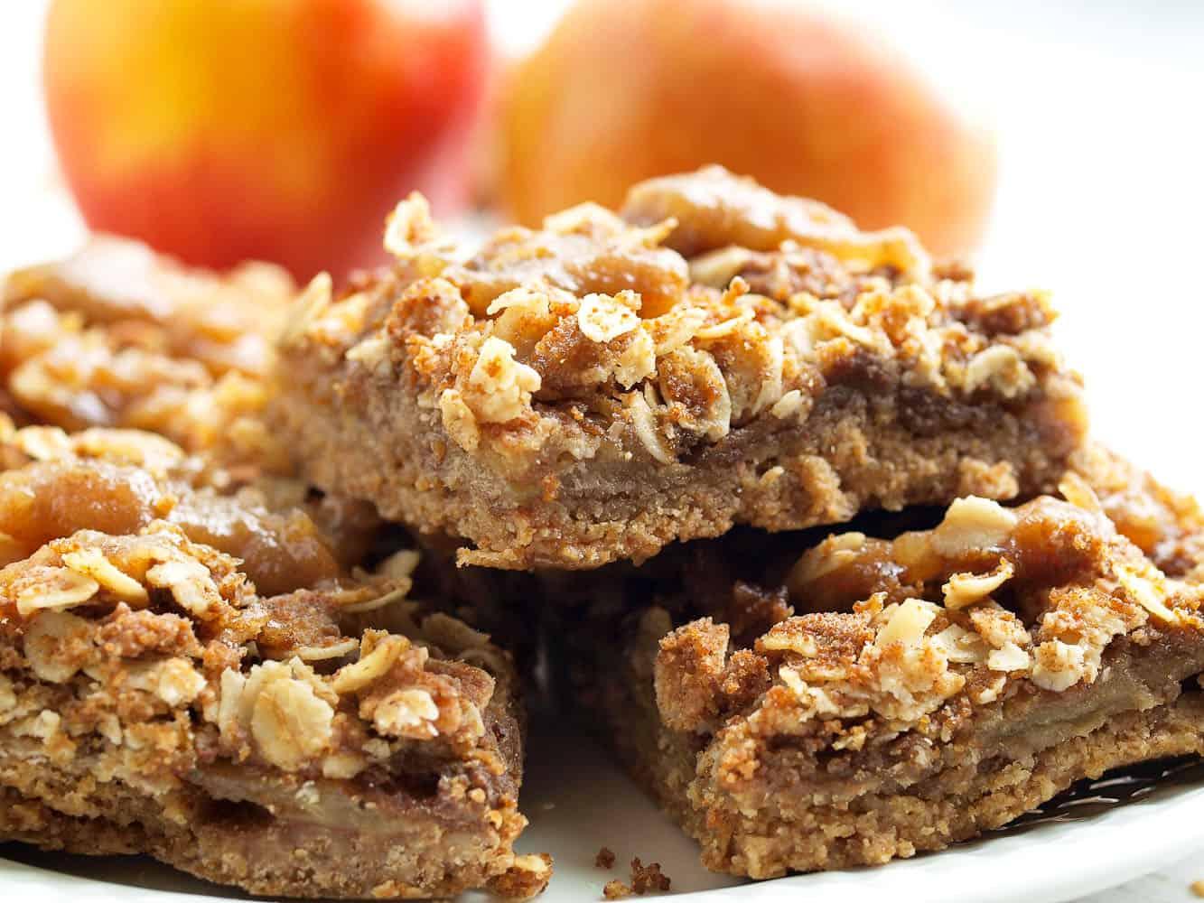 Salted caramel apple pie bars