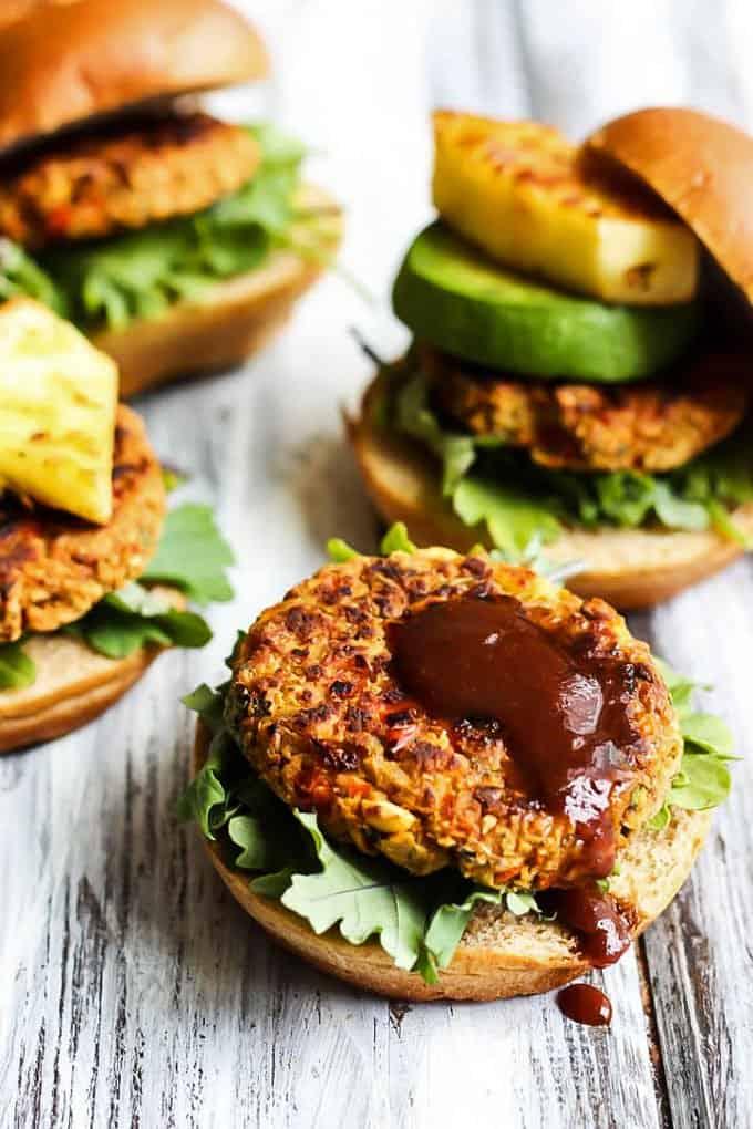 Hawaiian veggie burger