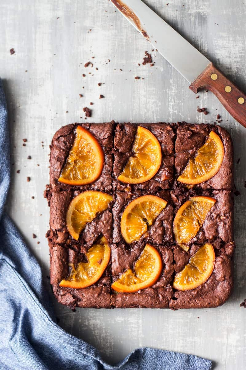 orange brownie mix