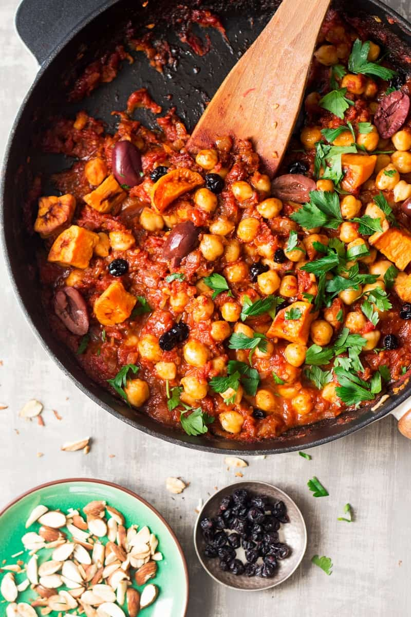 Morrocan chickpea stew for vegans