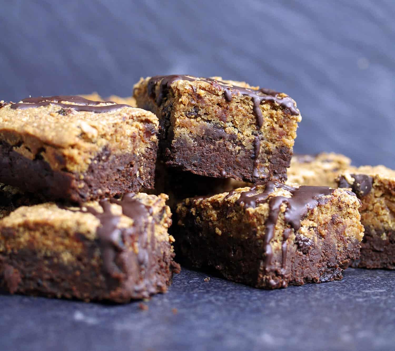 Cookie dough brownie mixture
