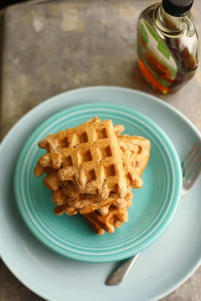 maple and vanilla plant-based waffles