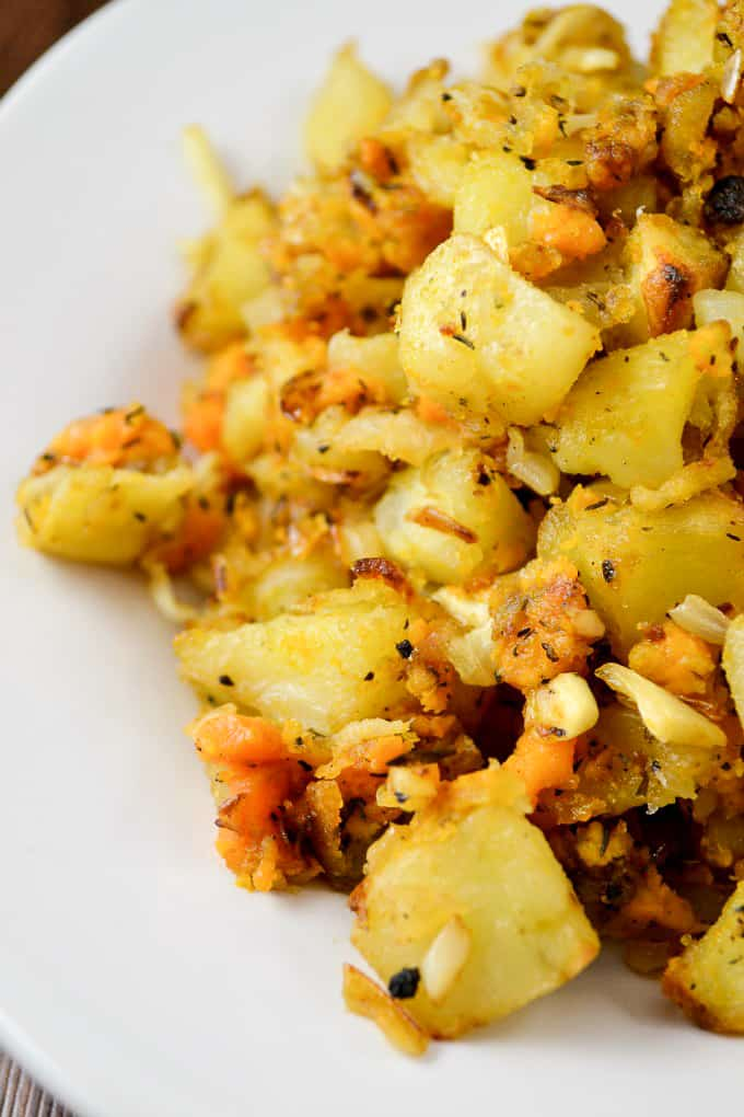 Easy to make vegan breakfast hash