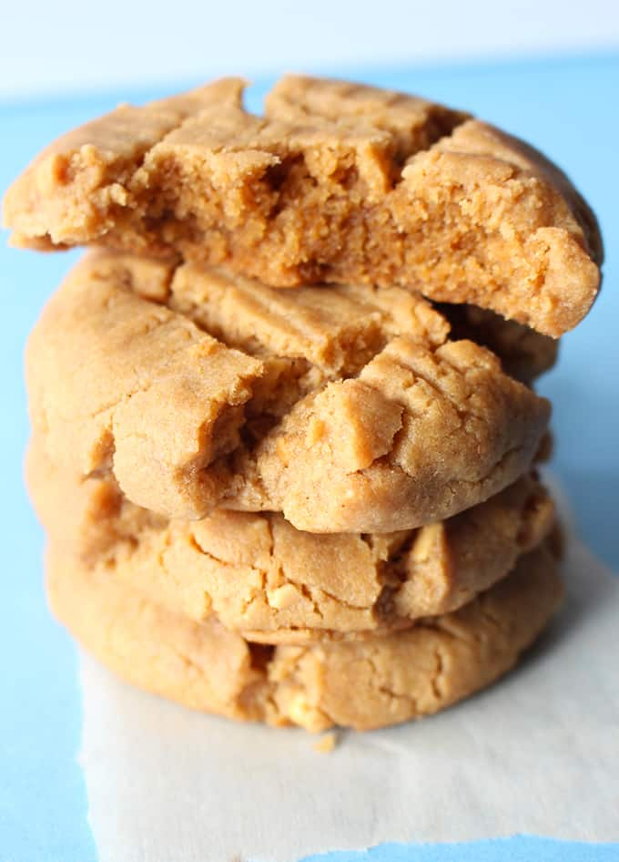 Thick peanut butter cookies
