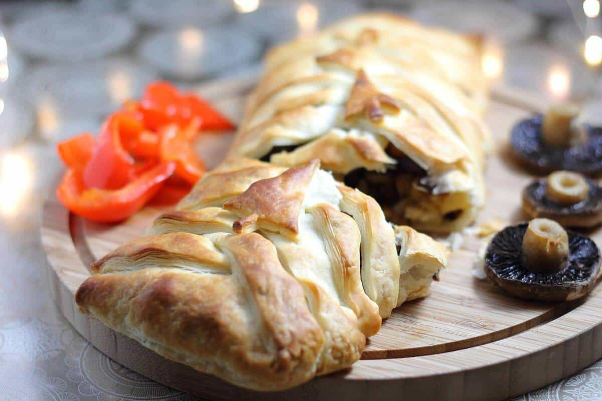 vegan parsnip and chestnut wellington