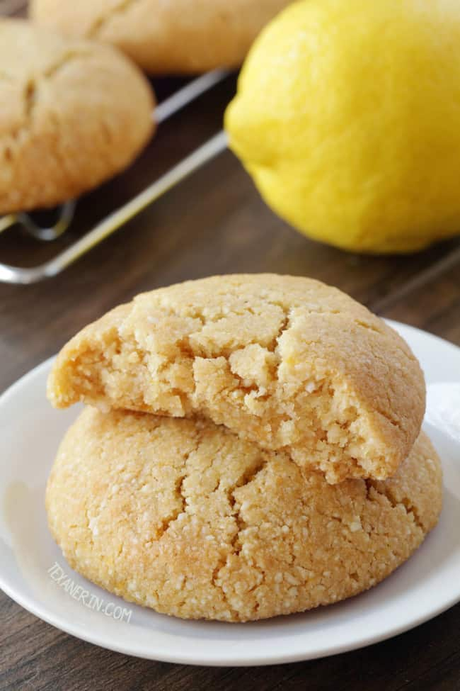 Lemon paleo cookies