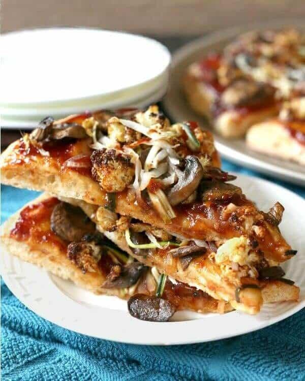 bbq veggie pizza
