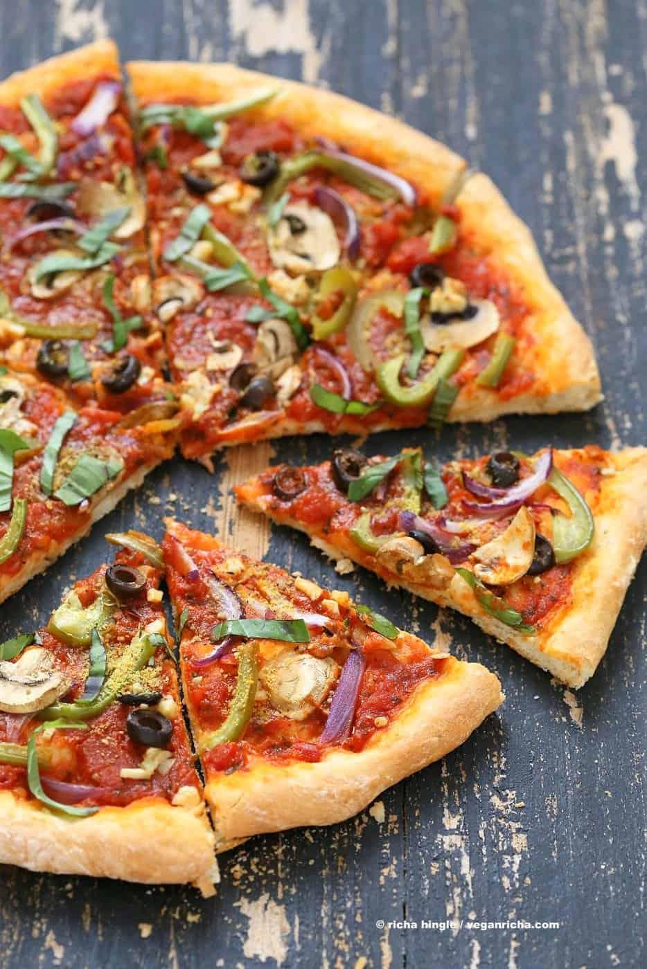 vegan richa pizza