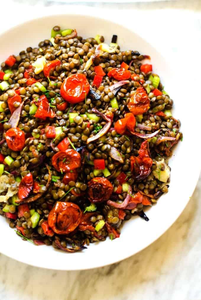 vegan lentil salad