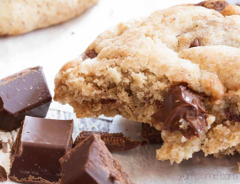 Plant-based choc chunk cookies