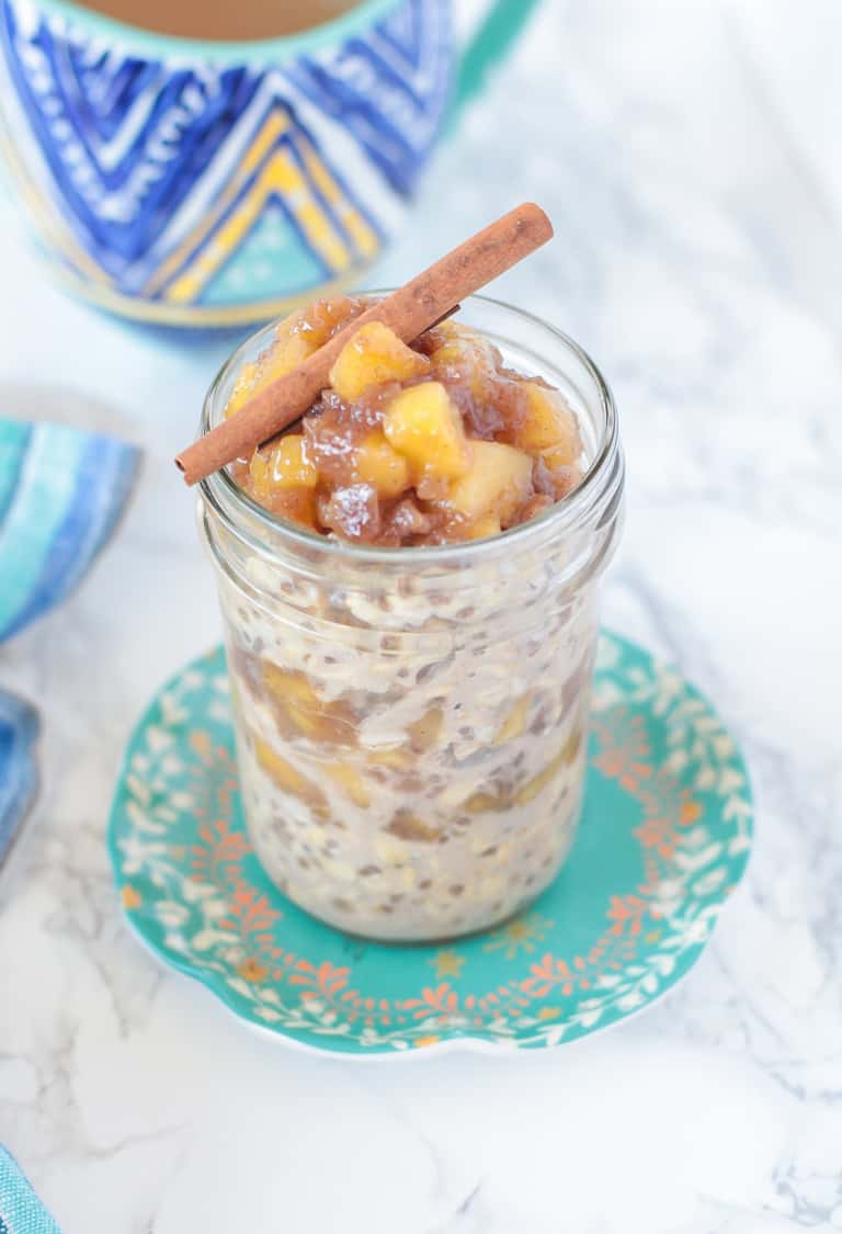 Apple and cinnamon overnight oatmeal dairy-free